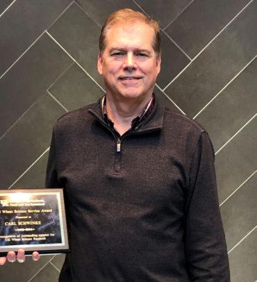 Carl Schwinke, our VP-Grain Supply, receives the 2021 University of Kentucky Wheat Science Service Award